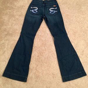 Seven flare leg jeans
